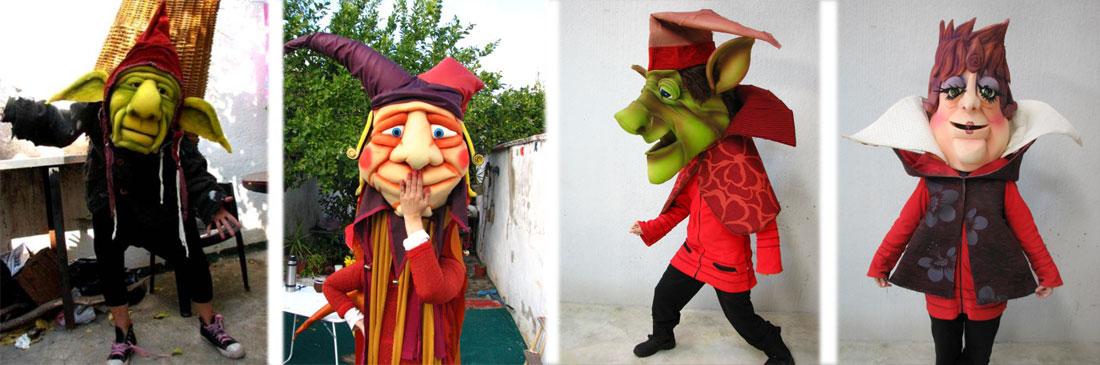 Marionetas de gomaespuma